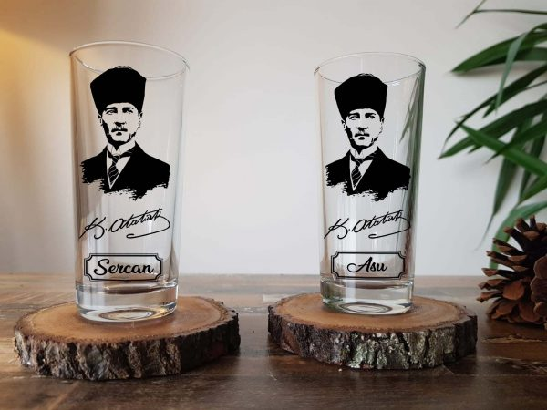 Atatürk rakı bardağı