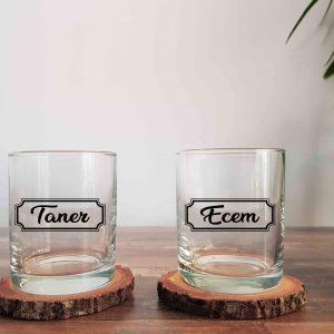 İsimli Klasik İkili Viski Kadehi