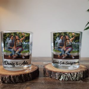 Kişiye Özel Viski Bardağı - Kişiye Özel Resimli ve İsimli Viski Kadehi