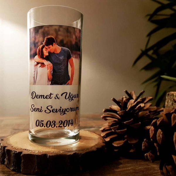 Kişiye özel rakı bardağı