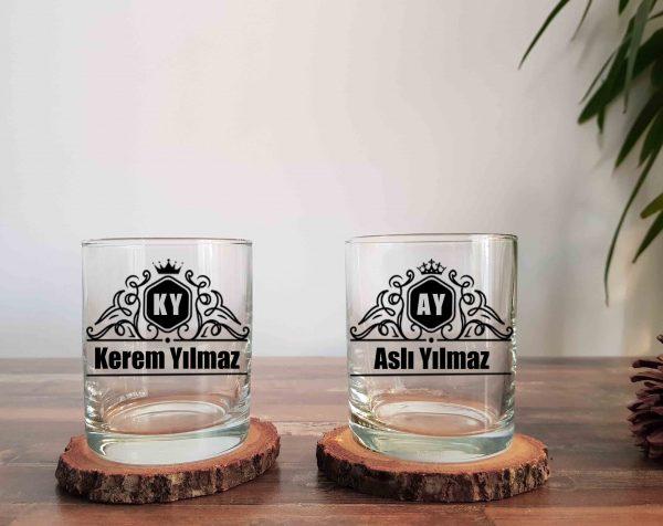 Vintage Royalty İkili Viski Kadehi