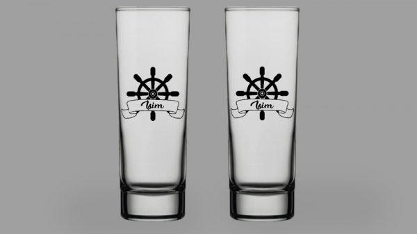 İsimli Dümen İkili Votka Bardağı