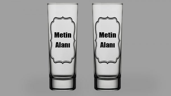 Kişiye Özel Sözlü Votka Bardağı