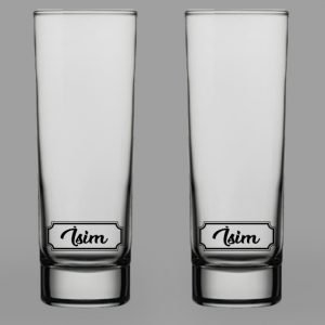 İsimli Klasik İkili Votka Bardağı