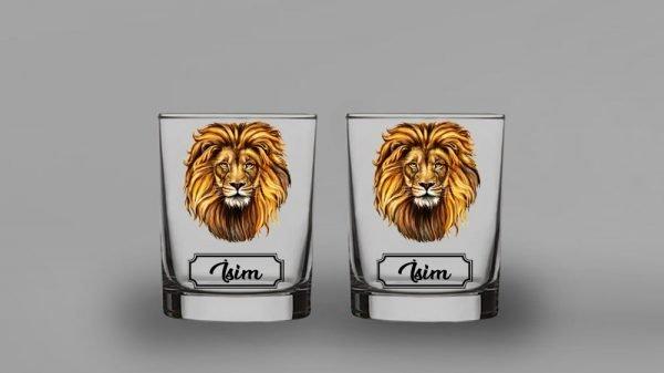 Aslan İkili Viski Kadehi