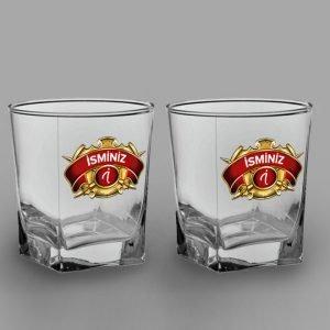 Chivas Logo İkili Köşeli Viski Kadehi isimli viski bardağı
