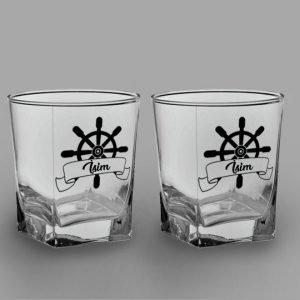 Dümen İkili Köşeli Viski Kadehi isimli viski bardağı