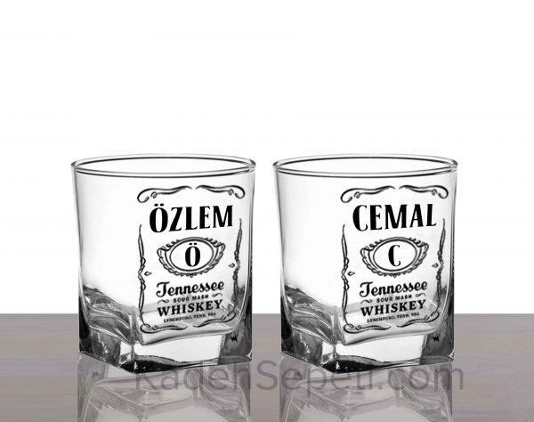 Jack Daniels İsimli Köşeli Viski Kadehi