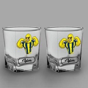 Kanarya İkili Köşeli Viski Kadehi isimli viski bardağı