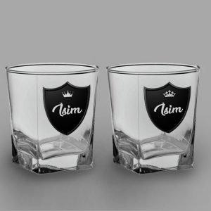 Royalty İkili Köşeli Viski Kadehi isimli viski bardağı