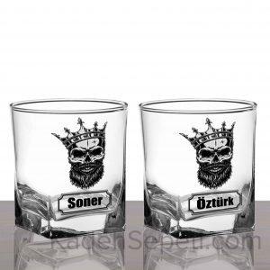 Skull King İkili Köşeli Viski Kadehi