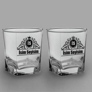 Vintage Royalty İkili Köşeli Viski Kadehi isimli viski bardağı